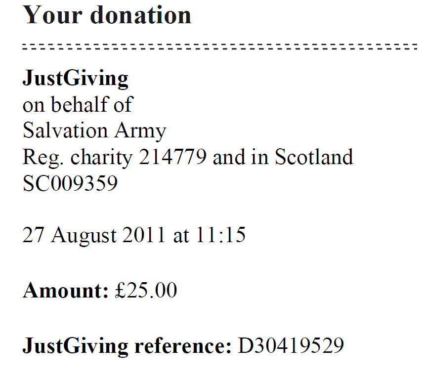 Salvation Army Donations Download