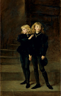 Princes in the Tower by John Everett Millais