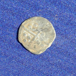 Medieval silver penny found at the site. (Image credit - University of Leicester)