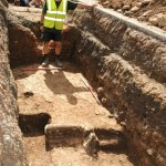 Medieval remains uncovered on site (Credit - University of Leicester)