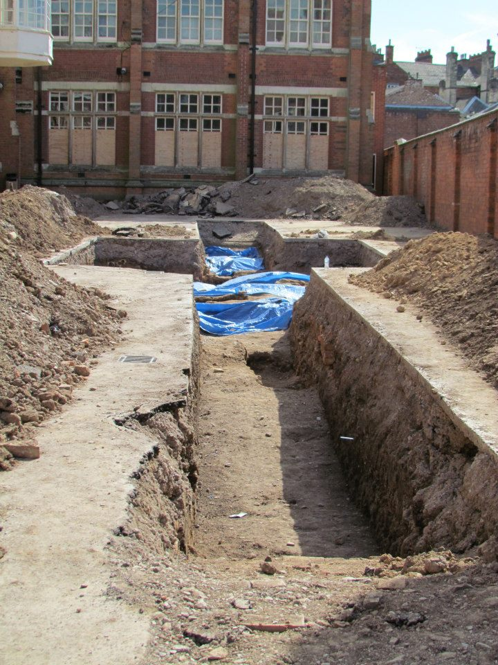 Trench 3 at Leicester (Source: Richard III Society)