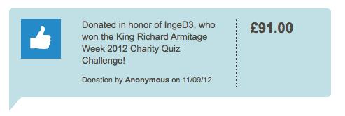 KRA Week 2012 - Charity Donation