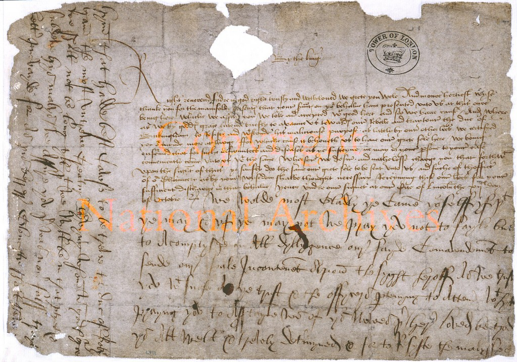 Richard III's request for the Great Seal with postscript on treachery of Duke of Buckingham 12 Oct 1483 (Source: National Archives)