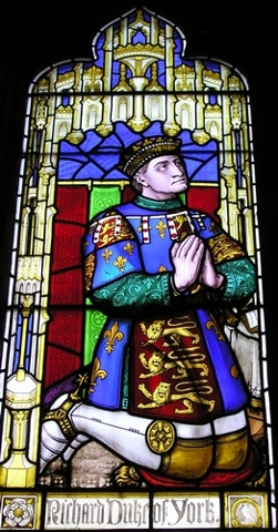 Richard, duke of York in the stained glass of St Laurence Church, Ludlow (Source: Wikipedia.org)