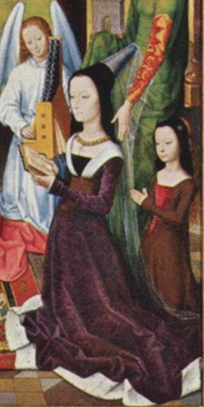 Hans Memling, Lady Donne of Kidwelly. The Donne Triptych, c. 1478 (Source: Wikipedia)