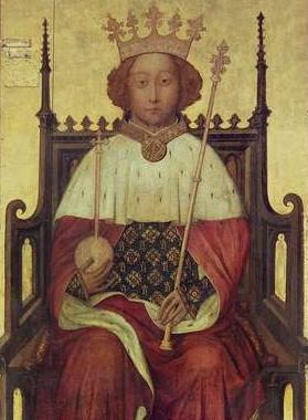 Richard II, c. 1390s. (Source: Westminster Abbey - Wikipedia)