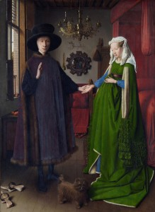 The Arnolfini Wedding, Jan van Eyck, c. 1434 - Italian merchant and his wife (Source: National Portrait Gallery, London - Wikipedia)