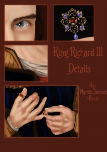 King Richard III - Details of portrait by Michaelle Jimenez-Porras