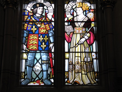 Richard & Anne - Cardiff Castle Window, 19th century (Source: Jim Cowan - Cardiff History and Hauntings)