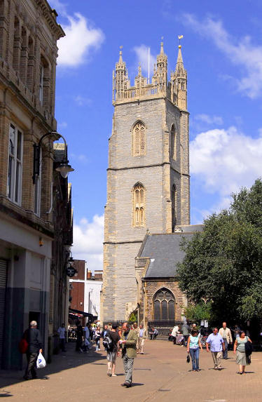 St Johns Church tower, Cardiff (Source: Jim Cowan - Cardiff History and Hauntings)